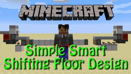 Minecraft: How to build a simple Smart Shifting Floor Mob Trap, Redstone Showoff