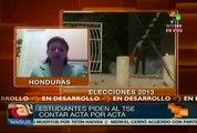 """""""Acta por acta"""", claman electores hondureños en calles de Tegucigalpa"""