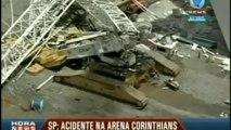 Mondial de foot au Brésil : une grue s'effondre sur le stade de Sao Paulo