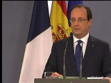 """Retraite chapeau: François Hollande salue """"une décision sage"""" de Philippe Varin - 27/11"""