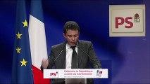 Manuel Valls au grand meeting de la Gauche : Défendre la République contre les extrémismes