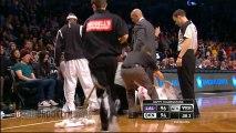 Jason Kidd says _Hit Me_ & Spills Drink on Court