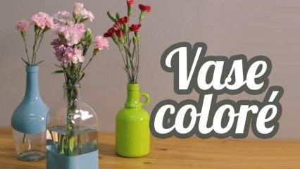 Vase recyclé et coloré