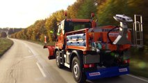 The new Mercedes-Benz Unimog implement carrier Euro VI - Winter service
