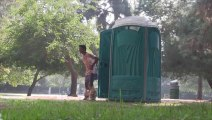 Explosive Porta Potty Prank - poop everywhere! funny