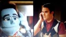 Glee 5x07 Blaine and Puppet Kurt Phone Call Scene