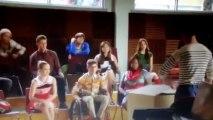 Glee 5x07 Kurt Books a Second Gig/Blaine Gives the Puppets Away Ending Scene