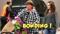 Mila Kunis Bonds With Ashton Kutcher's Mom - Mila Kunis And Ashton Kutcher