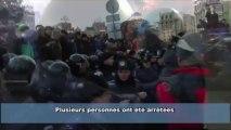 Intervention musclée de la police contre les manifs pro-UE à Kiev