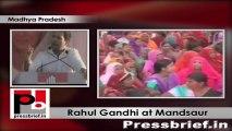 Rahul Gandhi at Mandsaur (Madhya Pradesh) tells the voters to oust BJP