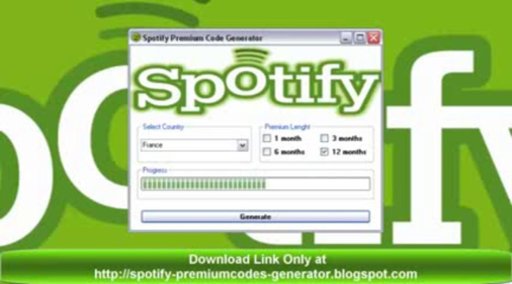 Free Spotify Premium Code Generator [No Survey][Working][12 Months  Subscription] 2013