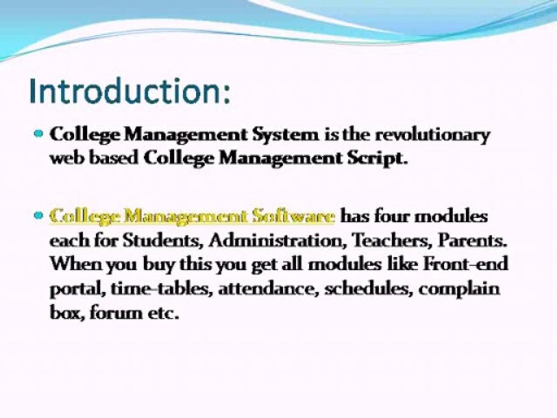 College Management System, College Management Software, College Management  Script