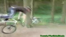 The Mountain Bike Tight Rope Faceplant! (Painful)