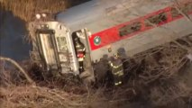 New York passenger train derails near Hudson River