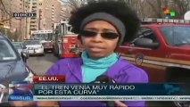 Residentes de EE.UU. están desconcertadas por accidente de tren en NY