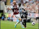 Online Football Crystal Palace vs West Ham Uni