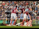 See Online Crystal Palace vs West Ham Uni