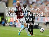 Live Football Crystal Palace vs West Ham Uni