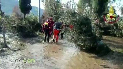 L'alluvione in Sardegna, le immagini girate dai Vigili del Fuoco