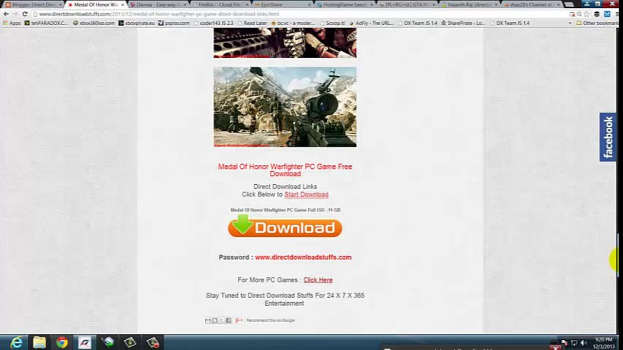 Medal Of Honor Warfighter PC Game Direct Download Links