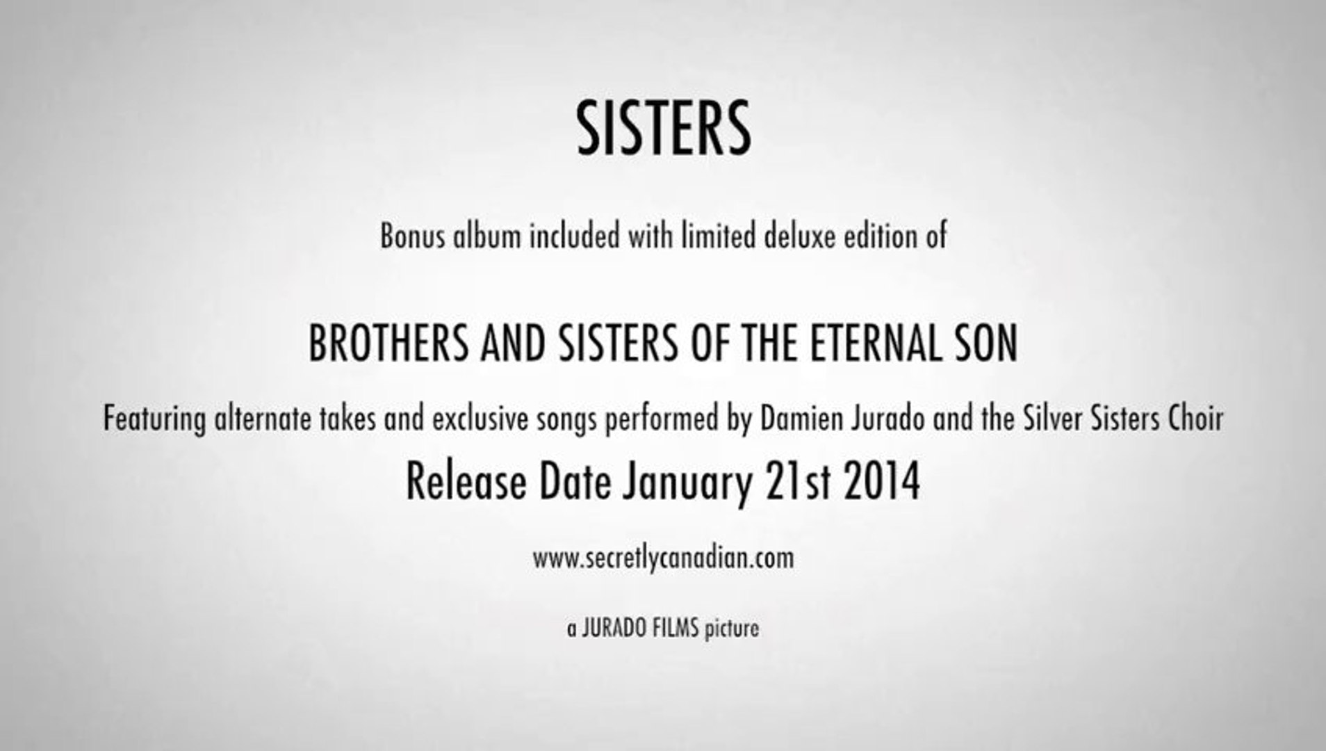 Damien Jurado - 'Brothers and Sisters of the Eternal Son' Album Trailer #2