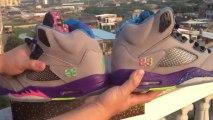 *lunettesshopfr.cn* Chaussures Nike Air Jordan 5 de gros hommes Gris Violet Vert en ligne