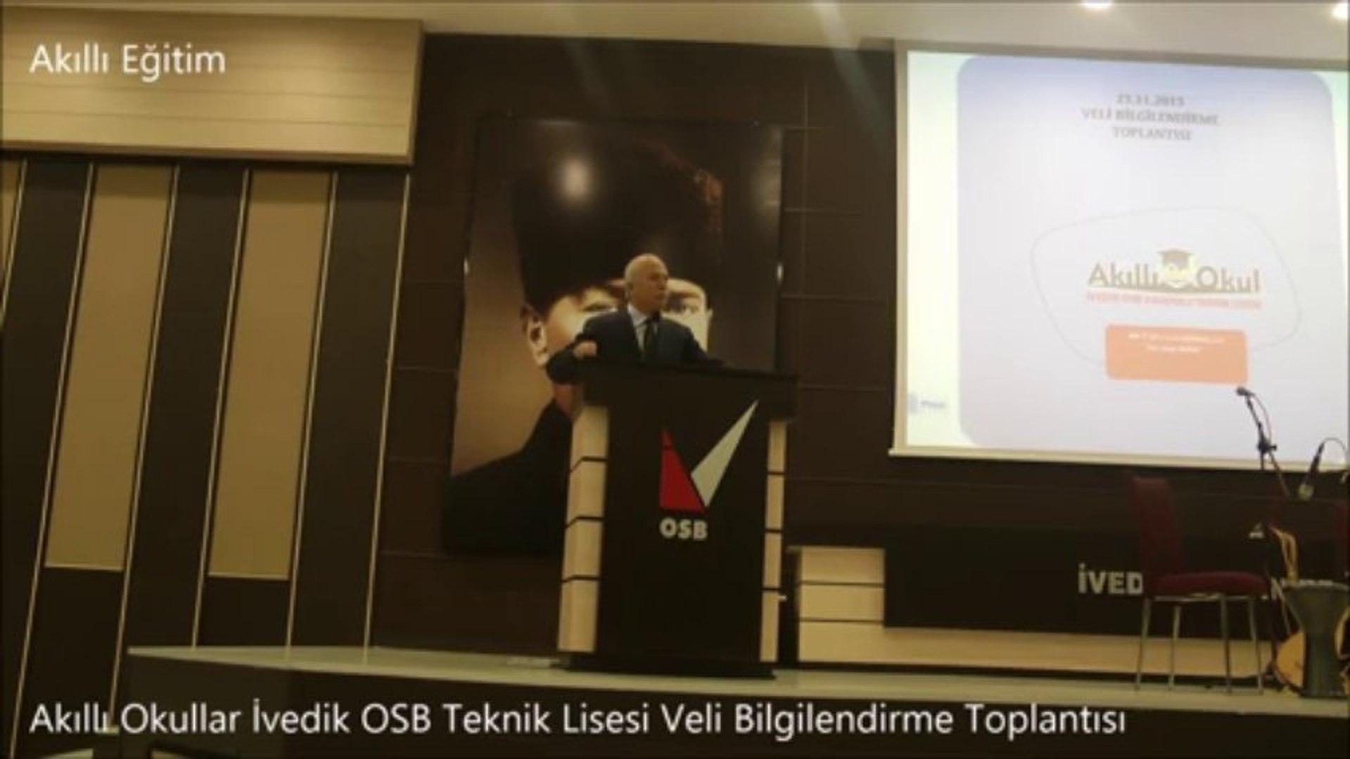 Ivedik Osb Baskani Hasan Gultekin In Ivedik Osb Teknik Lisesi Veli Bilgilendirme Toplantisi Konusmasi