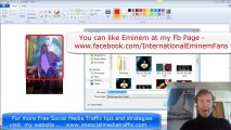How to Edit & put a Border round (Eminem) Pics for Facebook Ads