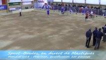 Tir de précision, premier tour qualification, Sport Boules, Mondial U18 Martigues 2013