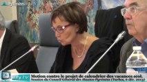 [HAUTES PYRENEES] Motion du Conseil Général sur les vacances scolaires (6 décembre 2013)