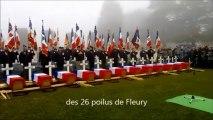 L'inhumation des 26 poilus de Fleury à la nécropole de Douaumont