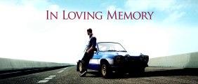 Hommage à Paul Walker par Universal et les équipes de Fast & Furious