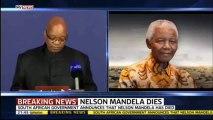 Nelson Mandela : l'annonce officielle de sa mort par Jacob Zuma