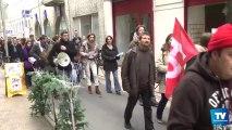 Manifestation des enseignants du primaire jeudi 5 décembre à Carcassonne pour réclamer la refonte de la réforme des rythmes scolaires.