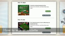 Roulette strategy  roulette system  how to win at roulette