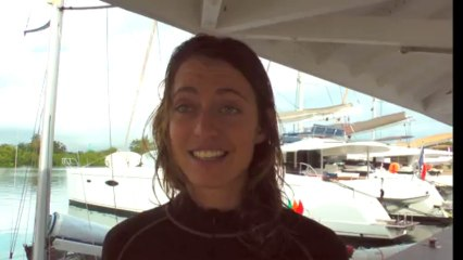 Justine Mettraux post race interview - English