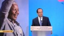 L'hommage de François Hollande à Nelson Mandela