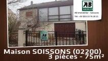 A vendre - maison - SOISSONS (02200) - 3 pièces - 75m²