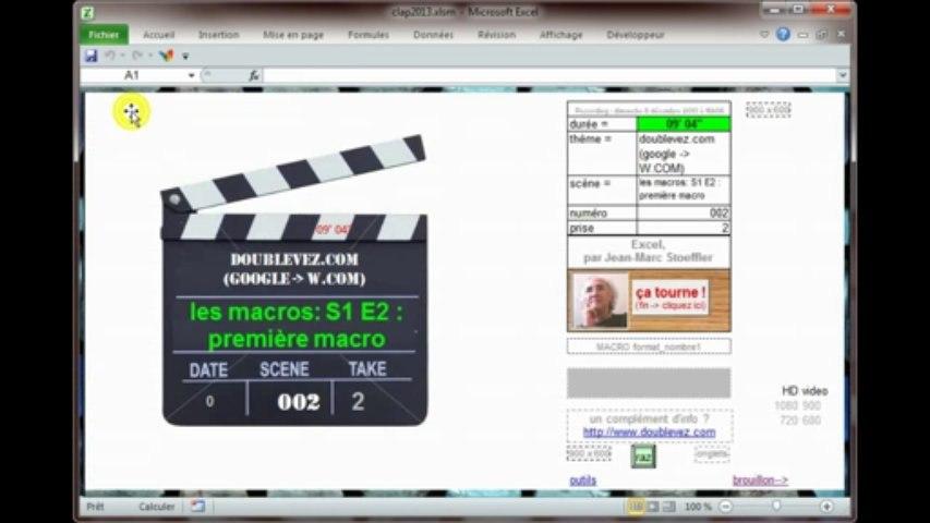les macros d'Excel : Saison 1 episode 2