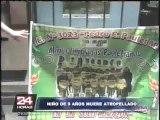 Escolar muere atropellado en peligroso cruce de la avenida Túpac Amaru