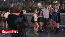 New York'ta pantolonsuz metroya binme günü