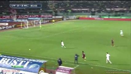 Balotelli 2nd goal Livorno - Milan 2-2 december 7 2013