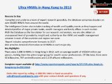 ReportsnReports: Ultra HNWIs Market in Hong Kong 2013