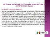 SAP Process Integration (PI)  Exchange Infrastructure (XI)  CERTIFICATION  IN CANADA