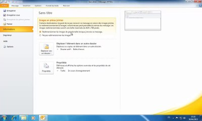 Outlook | Redimensionner les images jointes