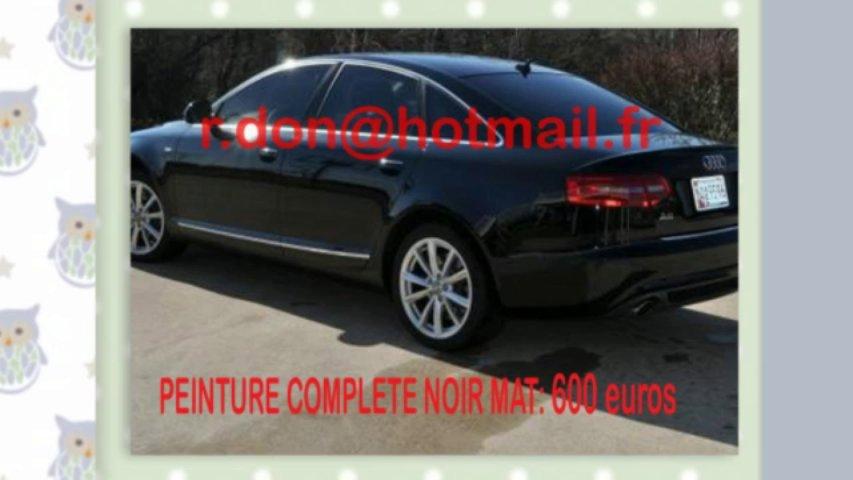 Audi A6 noir mat, Audi A6 noir mat, Audi noir mat, Audi A6 Covering noir mat, audi A6 peinture noir mat, Audi A6 noir mat