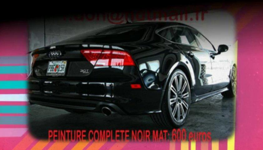 Audi A7 noir mat, Audi A7 noir mat, Audi noir mat, Audi A7 Covering noir mat, audi A7 peinture noir mat, Audi A7 noir mat