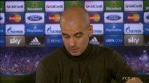 """CALCIO: UEFA Champions League: Guardiola: """"Voglio vincere girone a punteggio pieno"""""""