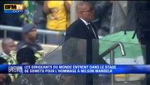 Hommage à Mandela: Jacob Zuma sifflé à son arrivée au stade de Soweto - 10/12