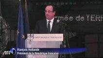 En visite à Bangui, Hollande défend l'intervention française en Centrafrique
